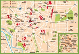 Dijon tourist map