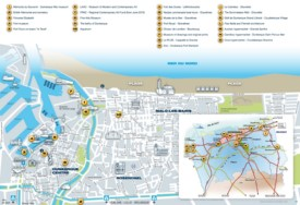 Dunkirk tourist map