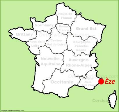 Èze Location Map