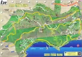 Èze Tourist Map