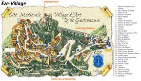 Èze-Village Tourist Map