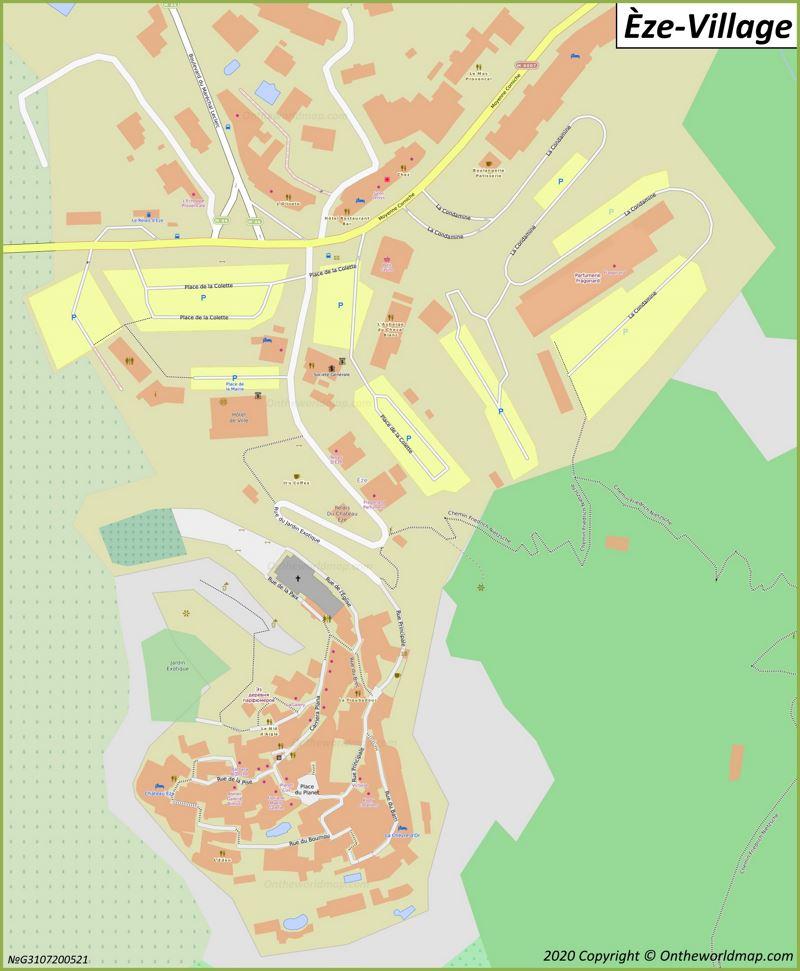 Map of Èze-Village