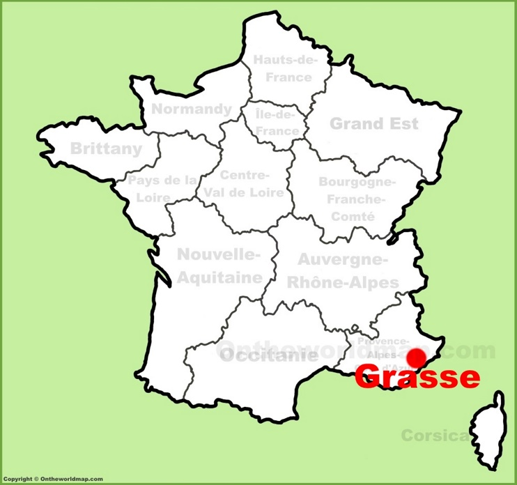 Grasse location on the France map