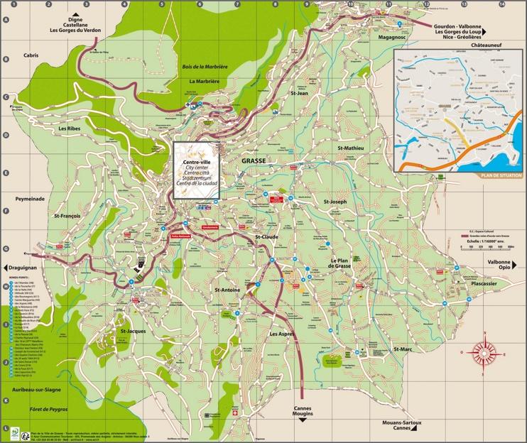 Grasse tourist map
