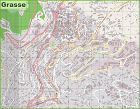 Large detailed map of Grasse