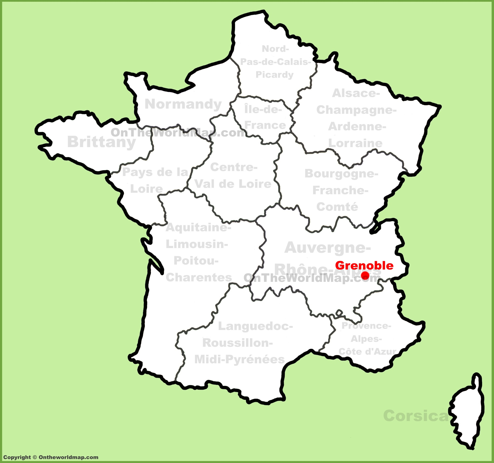 Grenoble location on the France map