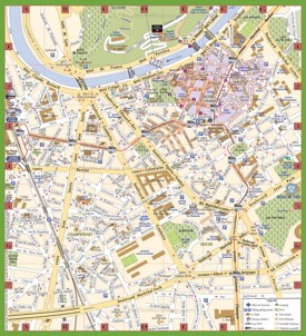 Grenoble tourist map