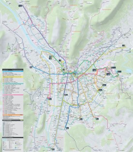 Grenoble transport map