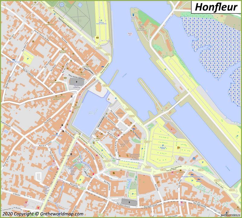 Map of Honfleur
