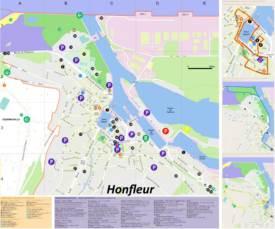 Honfleur Tourist Attractions Map
