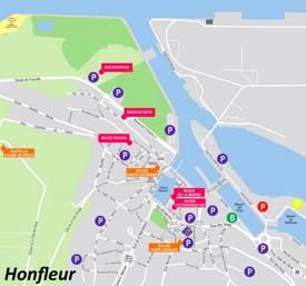 Honfleur Tourist Map