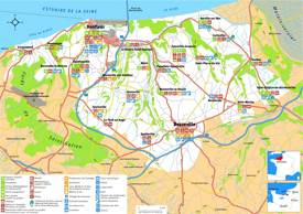 Tourist Map of Surroundings of Honfleur