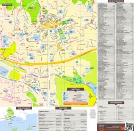 Hyères city center map