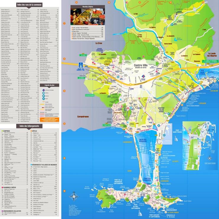 Hyères tourist map