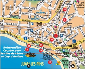 Juan-les-Pins tourist map