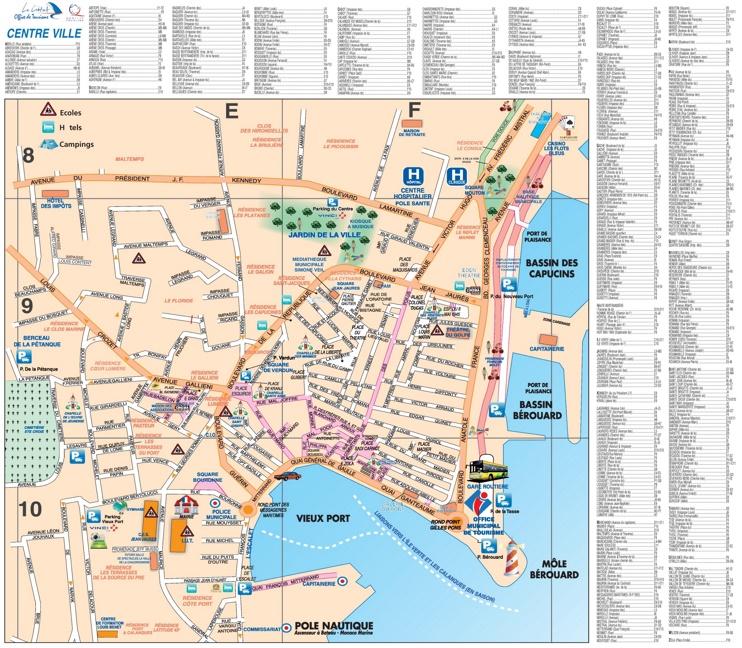 La Ciotat city center map