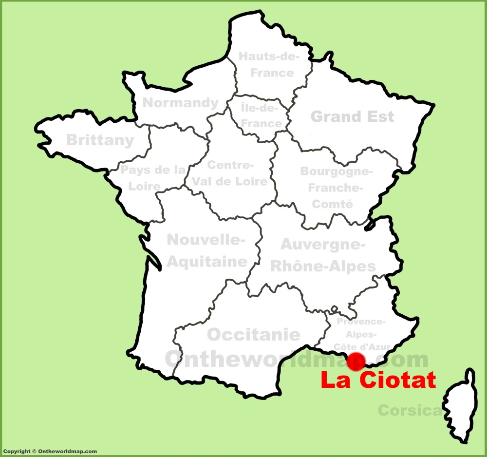 La Ciotat location on the France map