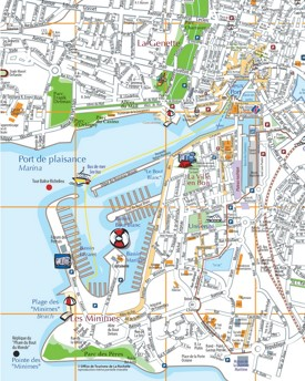 La Rochelle city center map