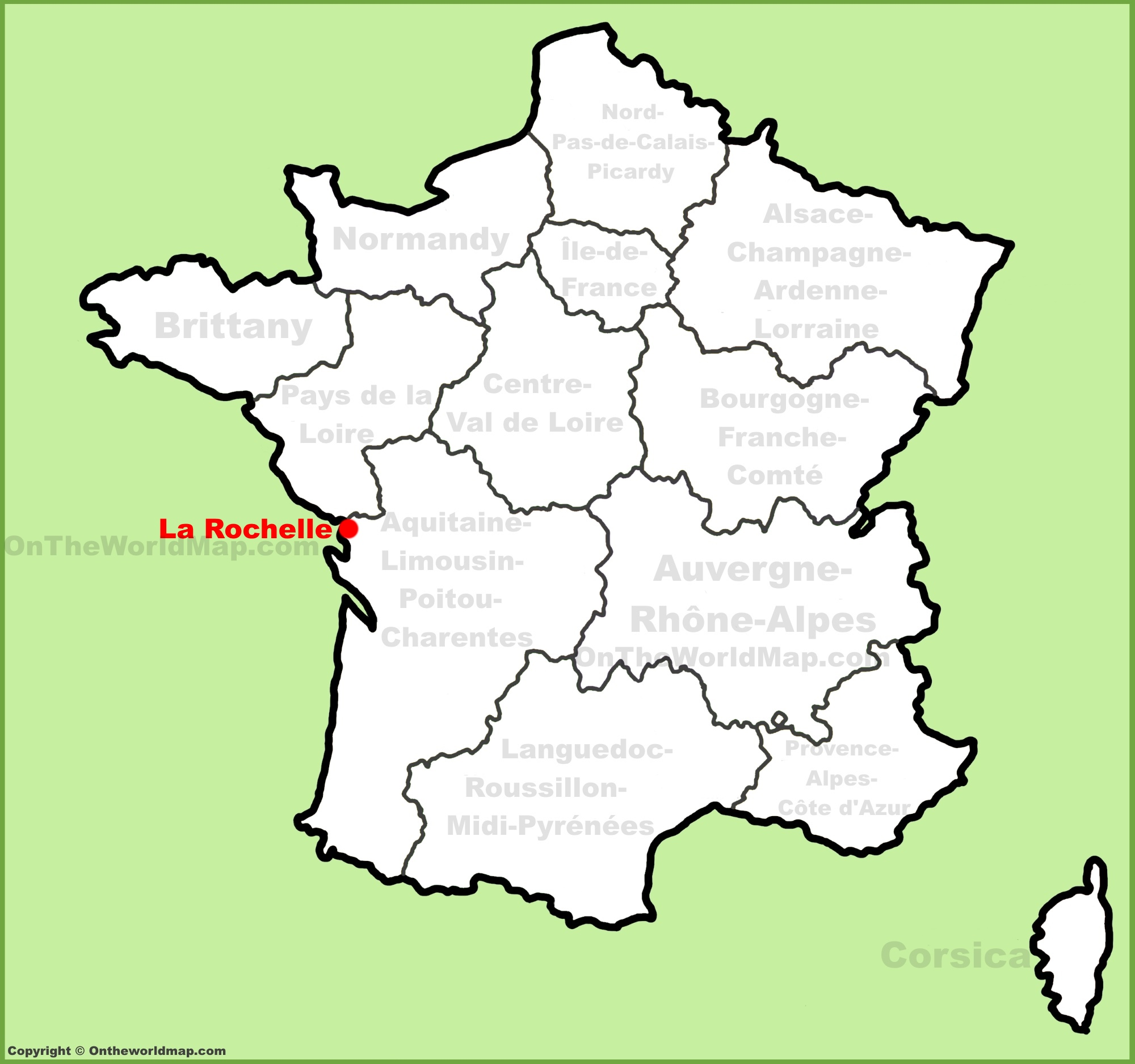 La France Map.La Rochelle Location On The France Map