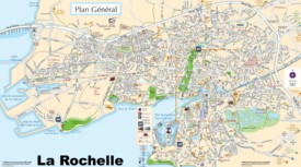 La Rochelle tourist map