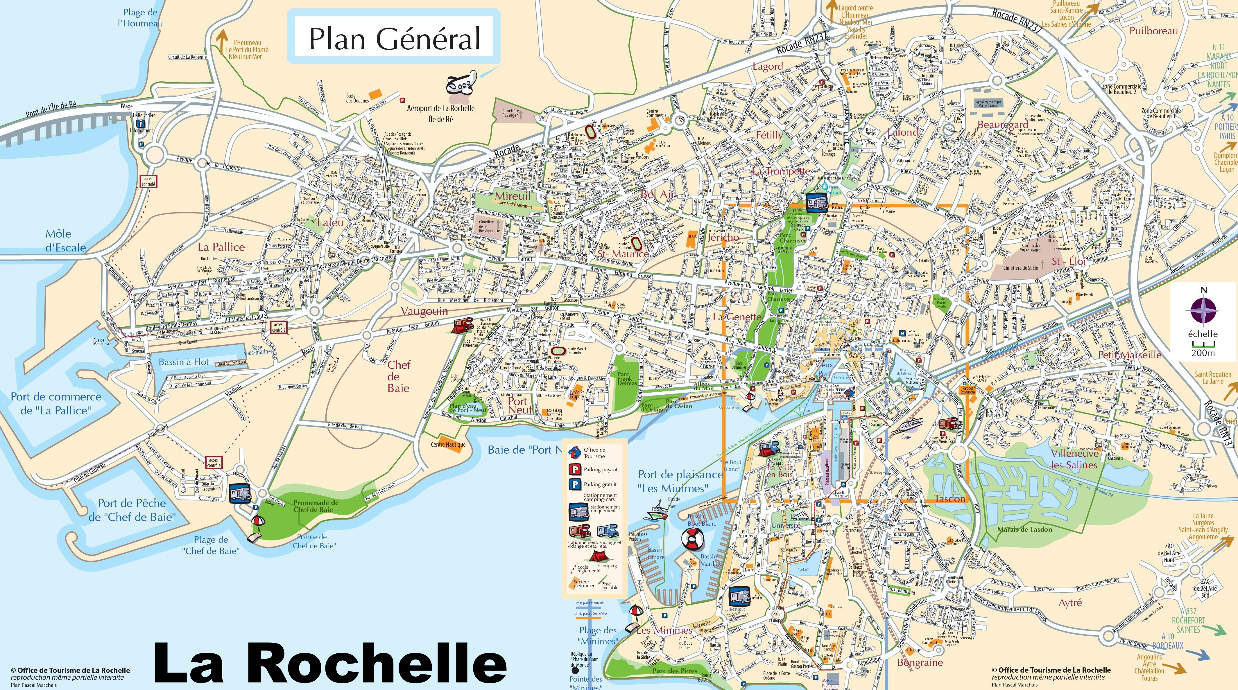 La Rochelle France Map La Rochelle tourist map La Rochelle France Map