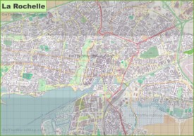 Large detailed map of La Rochelle