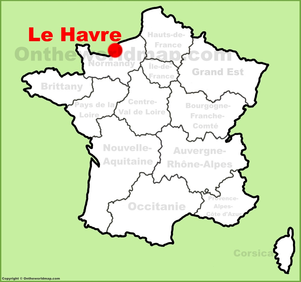 Le Havre location on the France map