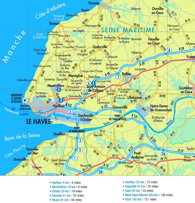 Le Havre road map