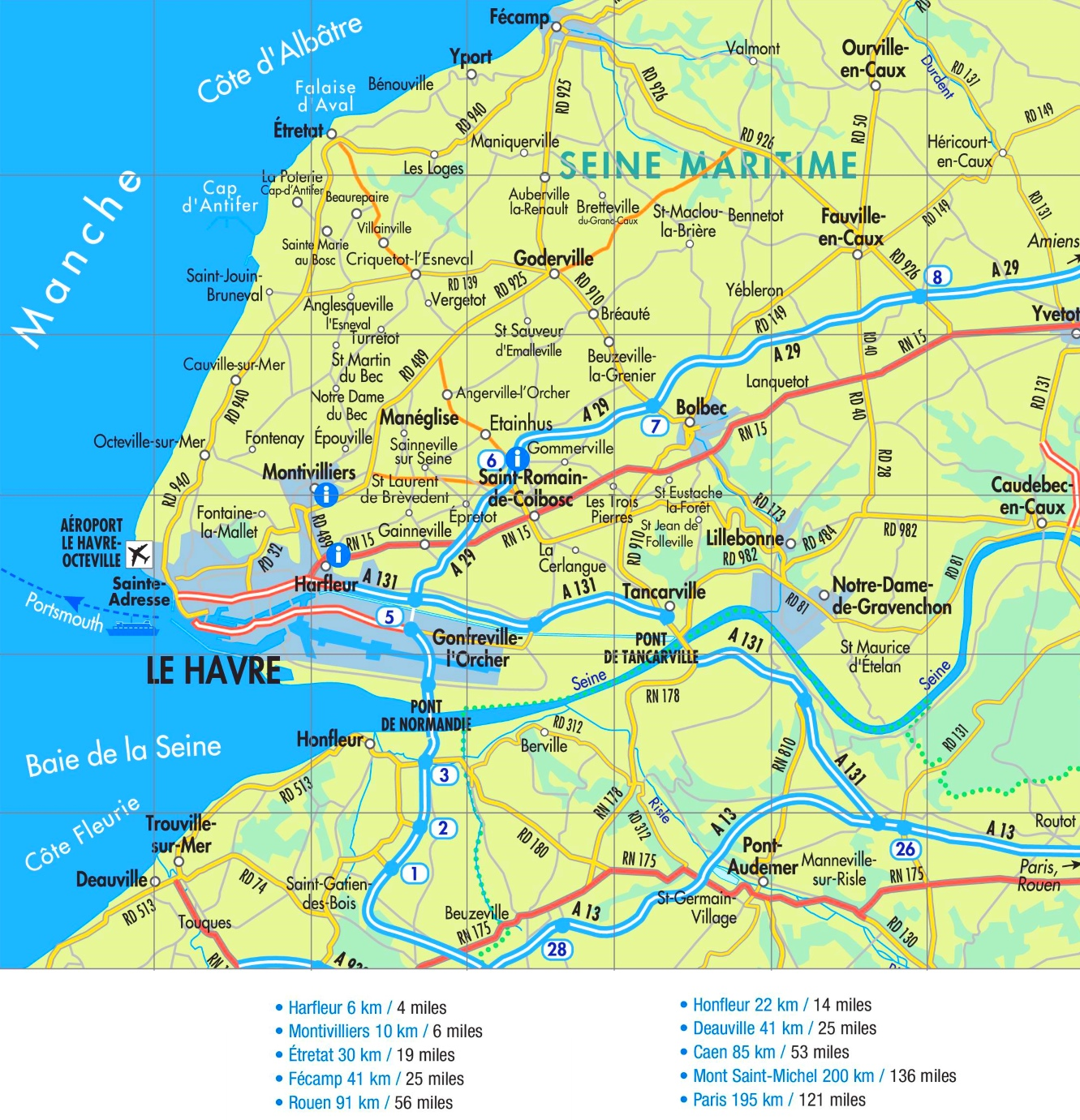 Map Of France Le Havre.Le Havre Road Map