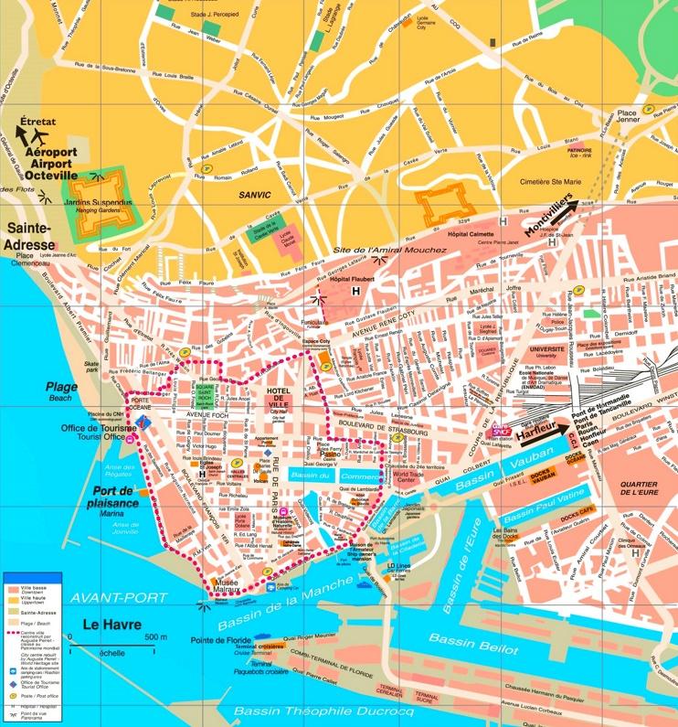 Le Havre tourist map