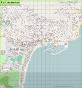 Large detailed map of Le Lavandou