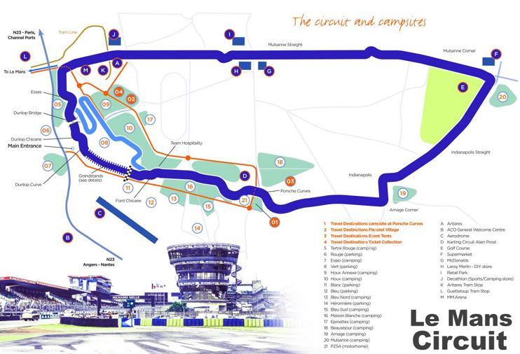 Le Mans Circuit Map