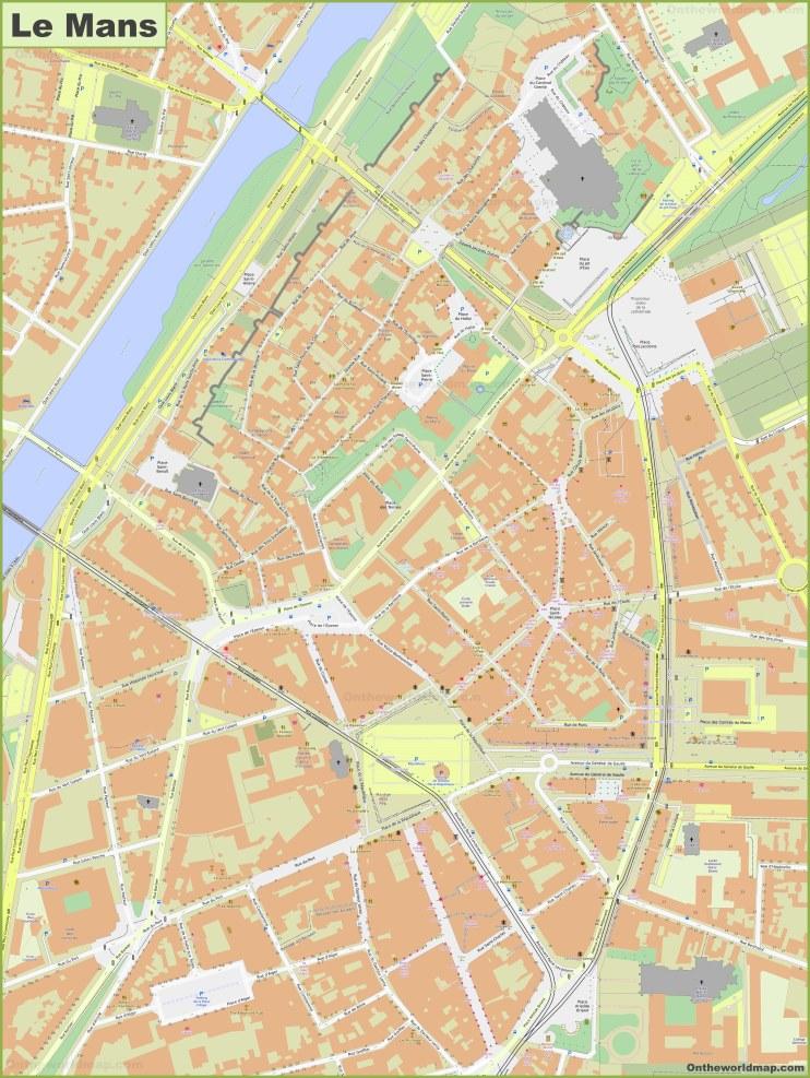 Le Mans City Center Map
