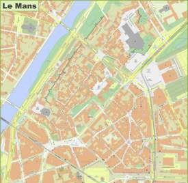 Le Mans City Center Map