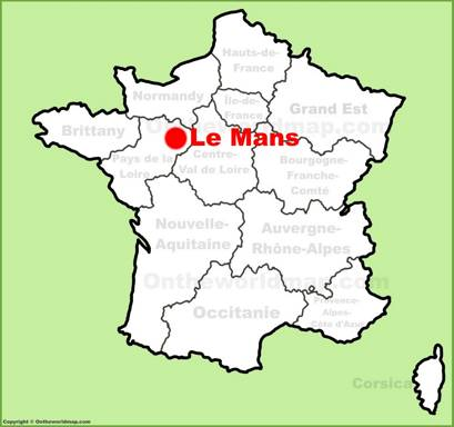 Le Mans Location Map
