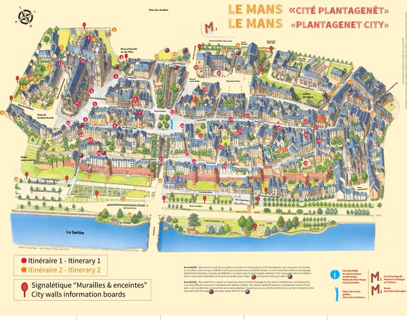 Map of Le Mans