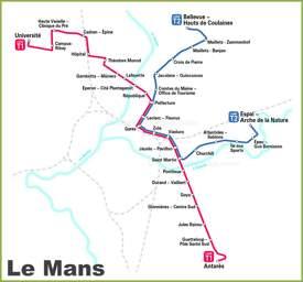 Le Mans Tram Map