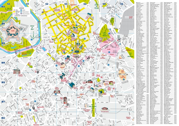 Lille city center map