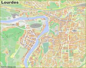 Lourdes City Center Map