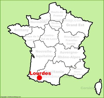 Lourdes Location Map