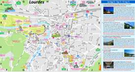 Lourdes Tourist Attractions Map
