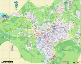 Lourdes Tourist Map