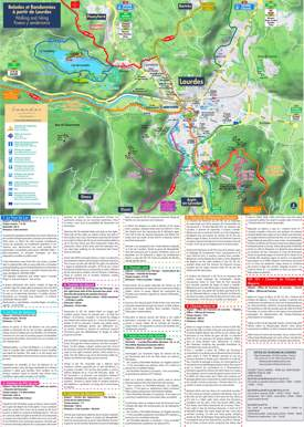 Lourdes Walking And Hiking Map