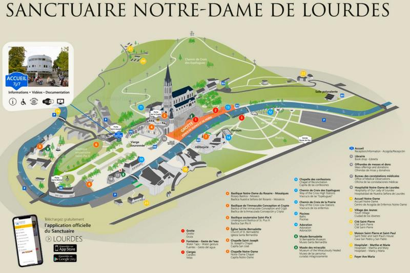 Sanctuary of Our Lady of Lourdes Map