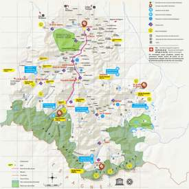 Tourist Map of Surroundings of Lourdes
