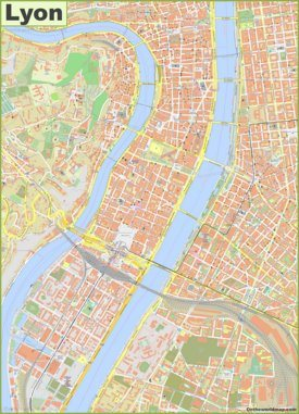 Detailed map of Lyon City Center