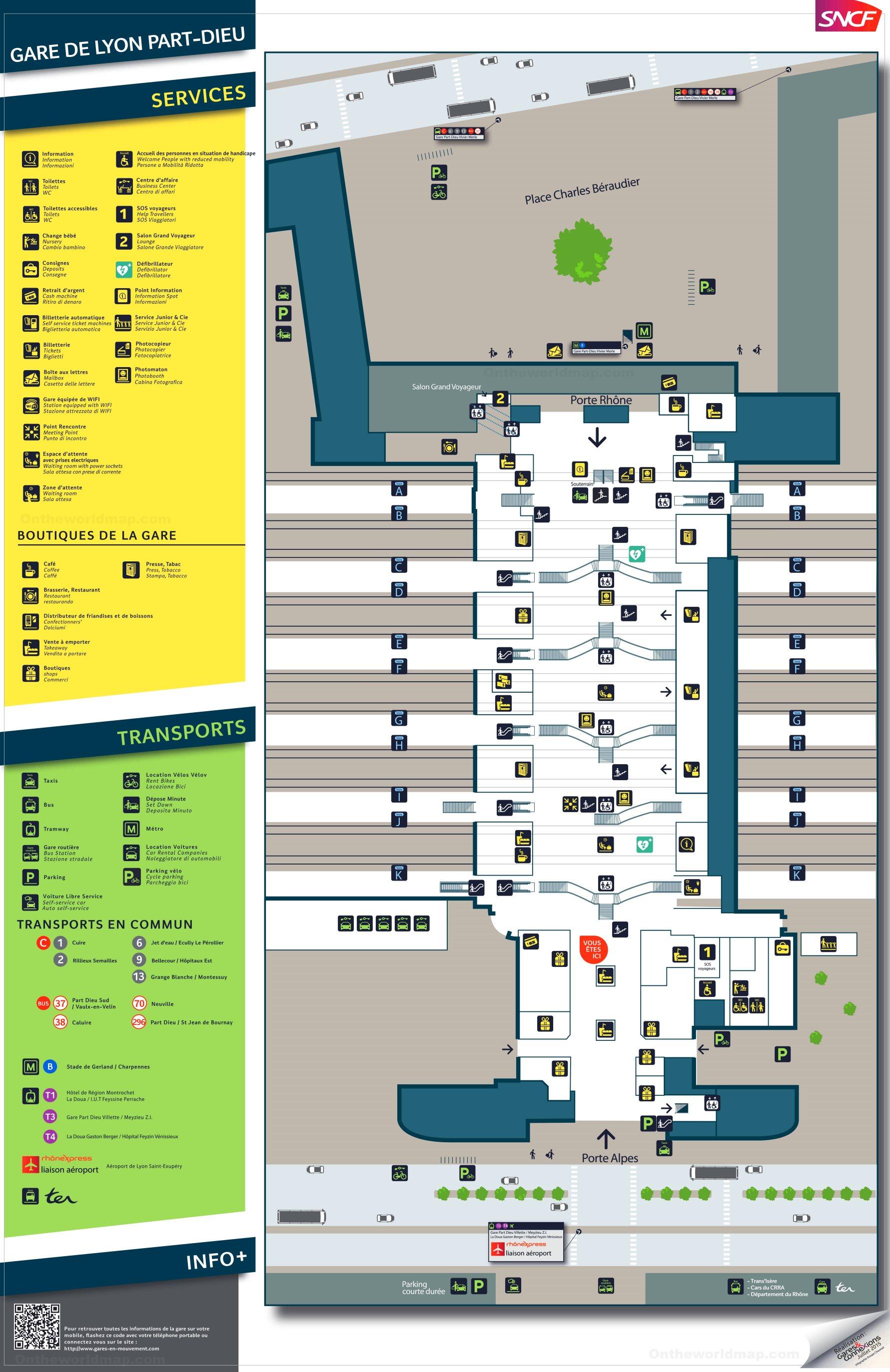 Gare De Lyon Part Dieu Map