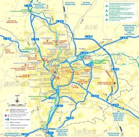 Lyon area road map