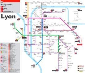 Lyon metro map