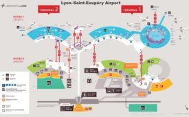 Lyon–Saint-Exupéry Airport Map